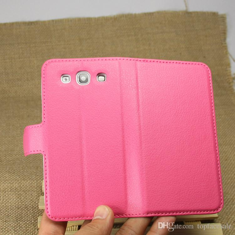 Diforate New Arrival Luxury Leather Wallet Phone Flip Cover Pouch Case For Samsung S3 I9300 Galaxy S3 Neo