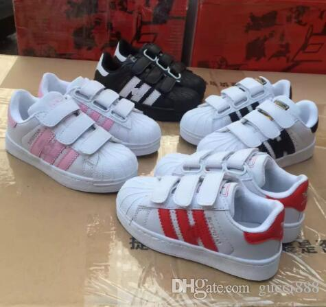 huge discount d3636 34685 HOT SELLING NEW STAN SMITH SNEAKERS CASUAL LEATHER Children shoes SPORTS  JOGGING SHOES kid s CLASSIC FLATS SHOES SUPERSTAR for kids
