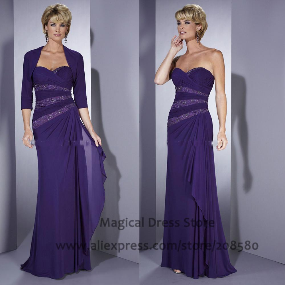 af386d06ad9 Purple Mother Of The Bride Pant Suits Plus Size Beaded Chiffon Bolero  Jackets Floor Length 2016 Groom Evening Gowns Dress M647 Jessica Howard  Mother Of The ...