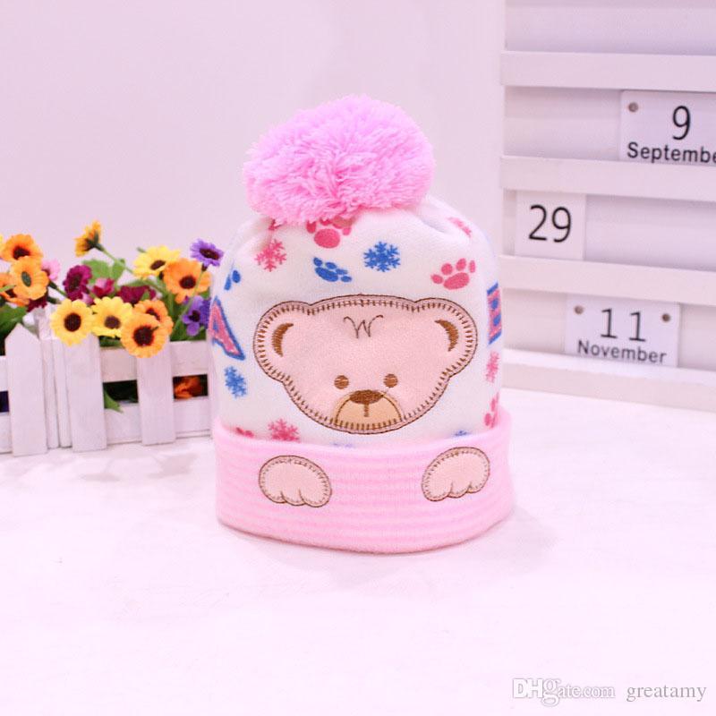 Sombrero del bebé Niños Sombreros de Invierno Casquillo Recién Nacido Caliente Súper Suave de Cachemira Gorro de Caparazón Para Niños Niñas Apoyos de Fotos Ropa de Bebé Gorro de punto