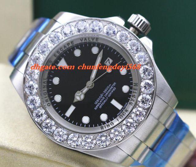 Mode Luxus Edelstahl 44mm 116660 Box Garantie MINTY Größere Diamant Keramik Lünette Automatische Bewegung Männer Uhren Top-qualität