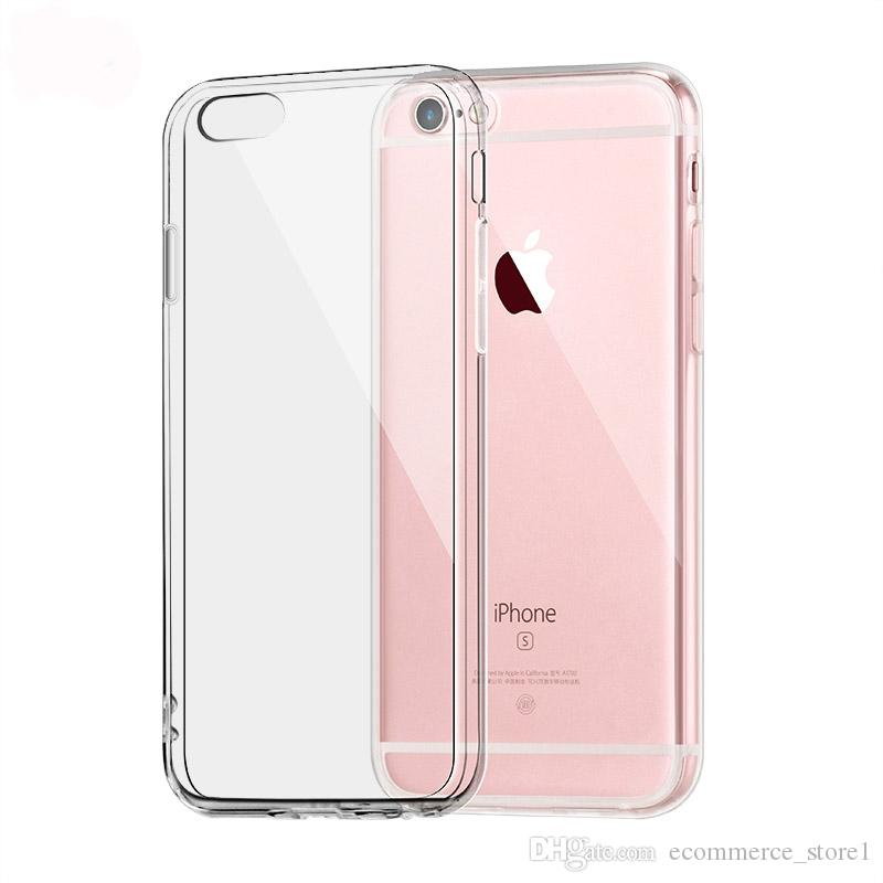 low cost 2978e 44b70 For Apple iPhone 6 6s 7 Plus Case Clear TPU Cases Slim Crystal Silicone  Protective sleeve Cover Transparent Covers Soft hard