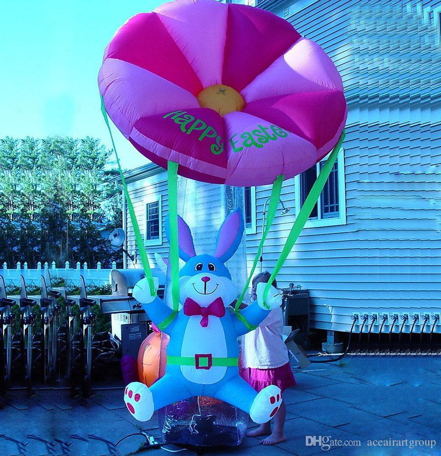 O tecido de 210 D Oxford vem com o coelhinho da páscoa inflável fundido mini ar feito em China