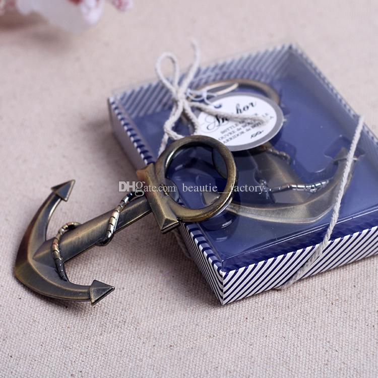 Anchor Shaped Chrome Bottle Opener Giveaways Coppery Beer Openers Wedding Favors Supplies Wine Favor Christmas Gift New