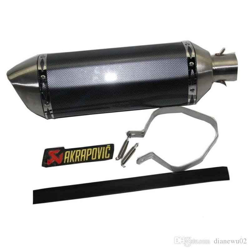 38 mm-51 mm Akrapovic Stainless Steel Motorcycle Exhaust Muffler Pipe Exhaust System With DB Killer Modified Scooter