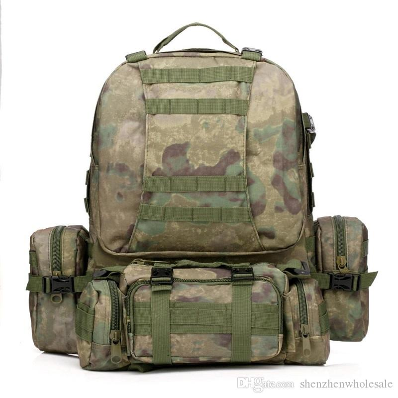 421e0cdf79e7 New Arrival 50L Molle Tactical Assault Outdoor Military Rucksacks Backpack  Camping Bag Large Backpack With Wheels Dakine Backpack From  Shenzhenwholesale