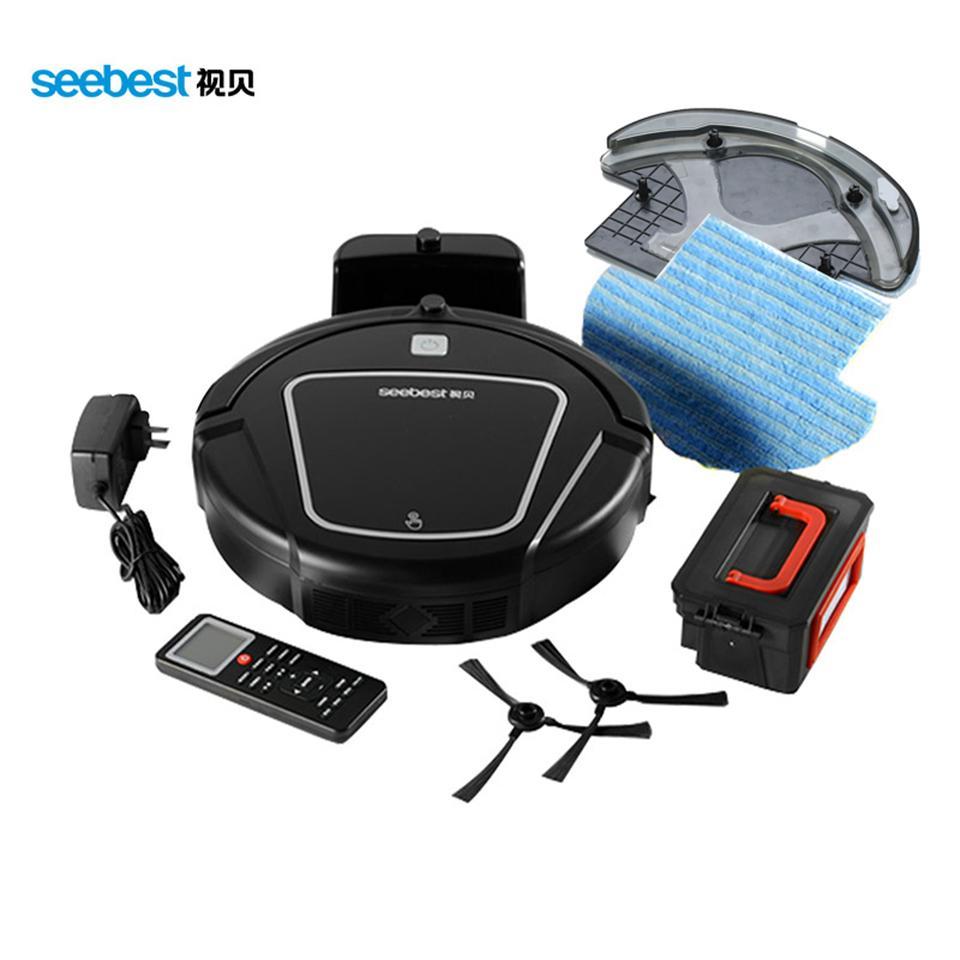 Seebest D730 reinigen Roboter Aspirator mit Wet / Dry Mop Wassertank und Zeitplan Auto aufladen Smart-Reiniger Seebest D730 MOMO 2.0