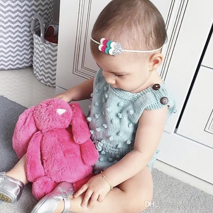 Ins primavera otoño infantil bebé de punto mamelucos niños niñas prendas de punto overoles suéter mameluco niños pequeños escalada ropa es 3056