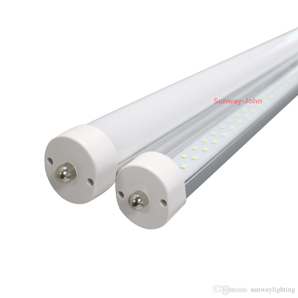 Double Row 8ft T8 Led Light Tubes Fa8 Single Pin G13 R17d
