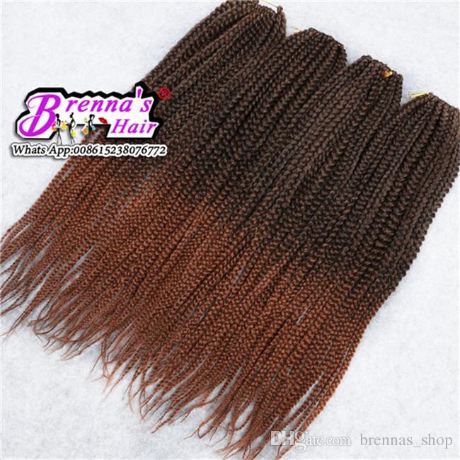 Venta caliente 3x trenzas pequeñas pequeñas seneglese trenzas de ganchillo de pelo 22 '' 120 g / paquete Crochet trenzas de pelo Senegalese torsiones trenzado Extensión