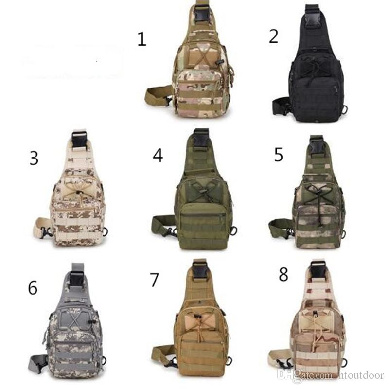 Men Outdoor Sport Camping Hiking Camouflage Shoulder Chest Bag Tactical Travel :Casual Cross Body Sling Waist Pack
