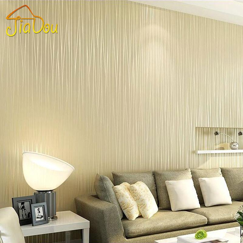 Non Woven Wallpaper Plain Minimalist Living Room Warm And Solid ...
