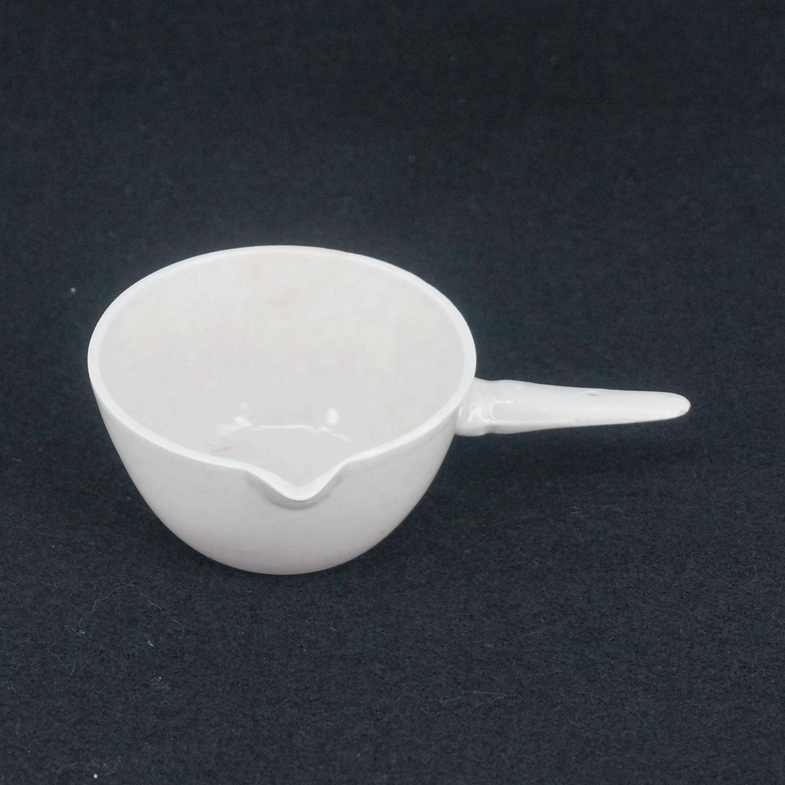 Wholesale- 100ml Ceramic Evaporating Dish Round Bottom with Handle ... for Laboratory Evaporating Dish  29dqh