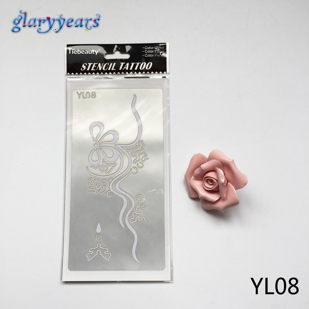 Wholesale Create Waterproof Henna Indian Tattoo Stencil Yl08 Women