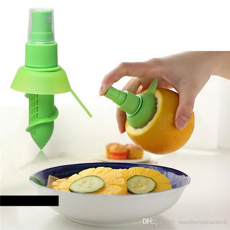 Creativo Jugo de naranja Exprimido Jugo Exprimidor Exprimidor de limón Niebla Naranja Exprimidor de frutas Pulverizador Cocina Herramienta de cocina