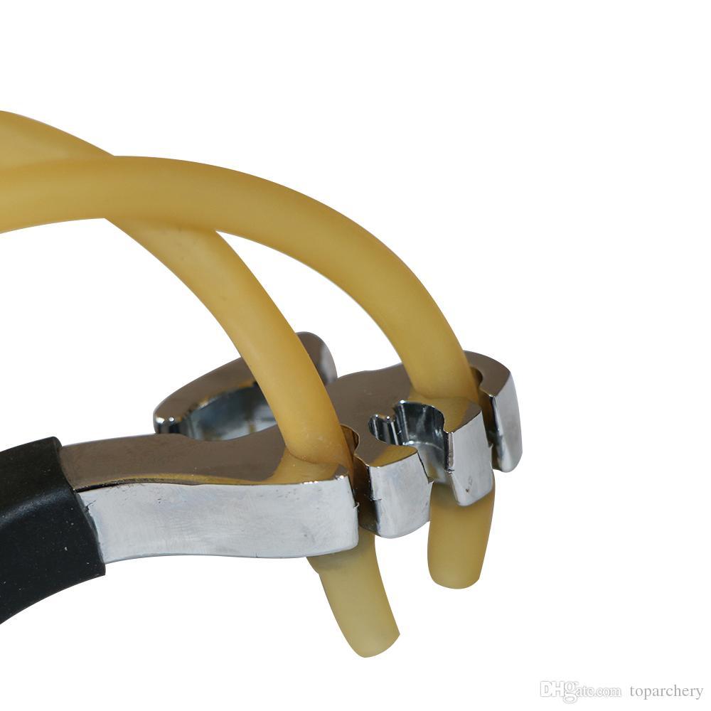 Nueva alta calidad del diseño del bolsillo de la catapulta de gran alcance recurvado acero inoxidable Catapulta deportes al aire libre Caza envío Slingshot