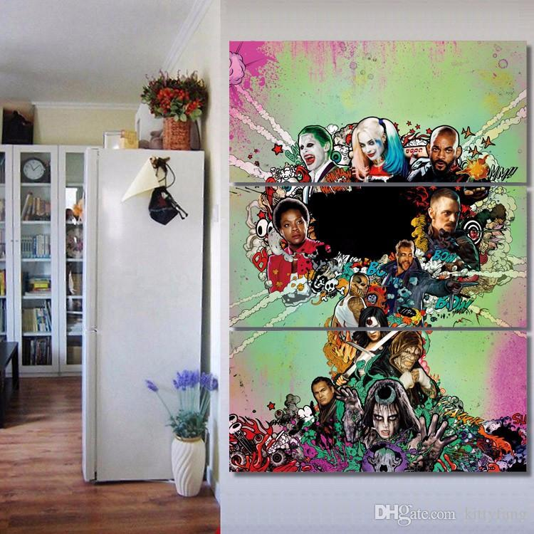 Framed HD Printed Suicide Squad Movie Picture Wall Art Canvas Print Decor Poster Canvas Modern Oil Painting