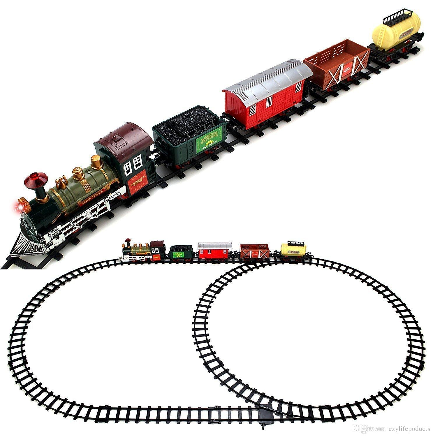 2019 Train With Rail Track Set Batteries Operated Toy Train Set 754