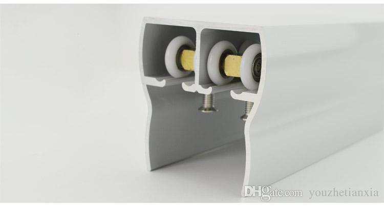 shower room door roller ultra-quiet wooden window sliding door pulley hanging rail track nylon wheel glass bearing door hardware