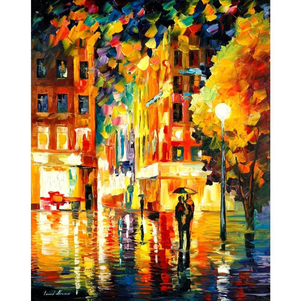 2018 Landscapes Art Oil Paintings Leonid Afremov Night In New York ...