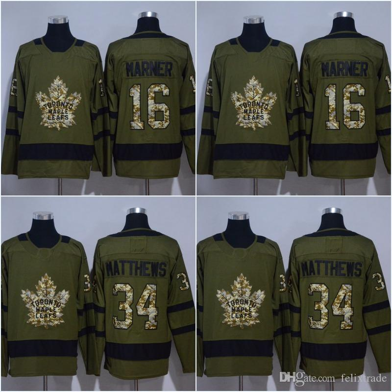 2019 Men Army Green 16 Mitchell Marner 2018 New Season Toronto Maple Leafs  Jersey 34 Auston Matthews Camouflage Hockey Jerseys From Felixtrade 74e36c194