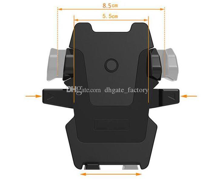 One touch car mount longo pescoço pára-brisa universal dashboard suporte do telefone móvel forte sucção para samsung s8 plus iphone 7 plus