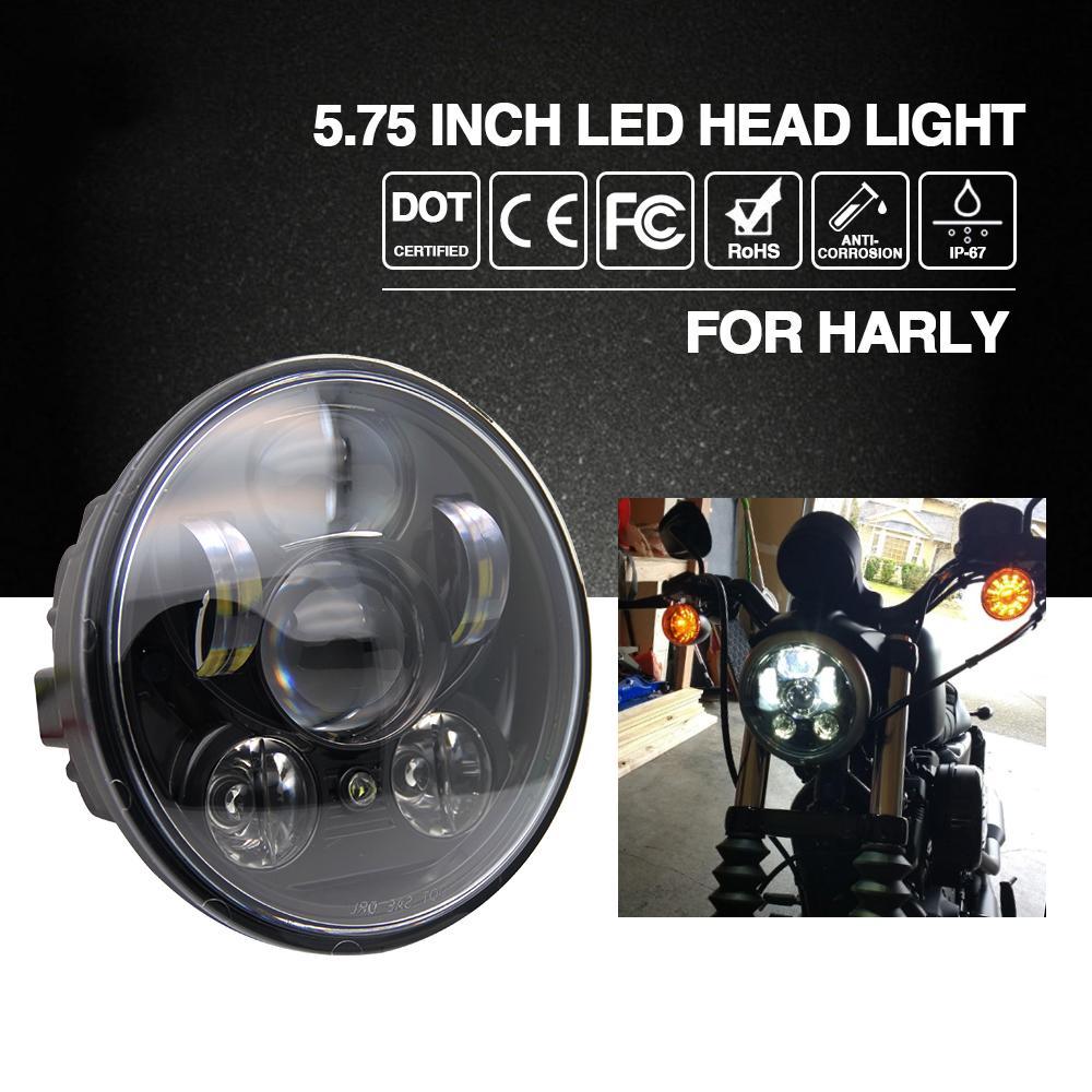 Best Headlight H4 575 40w Led Chip High Low Beam 20w Headlamp Harley Davidson Flashlight Motorcycle Headlights For Motor Bike 9v 12v Under 11959