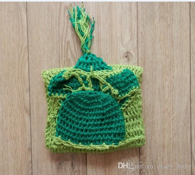 3 unids / set nuevo tejido a mano suéter bebé ropa foto del bebé estudio foto guisantes recién nacido memoria herramienta encantadora