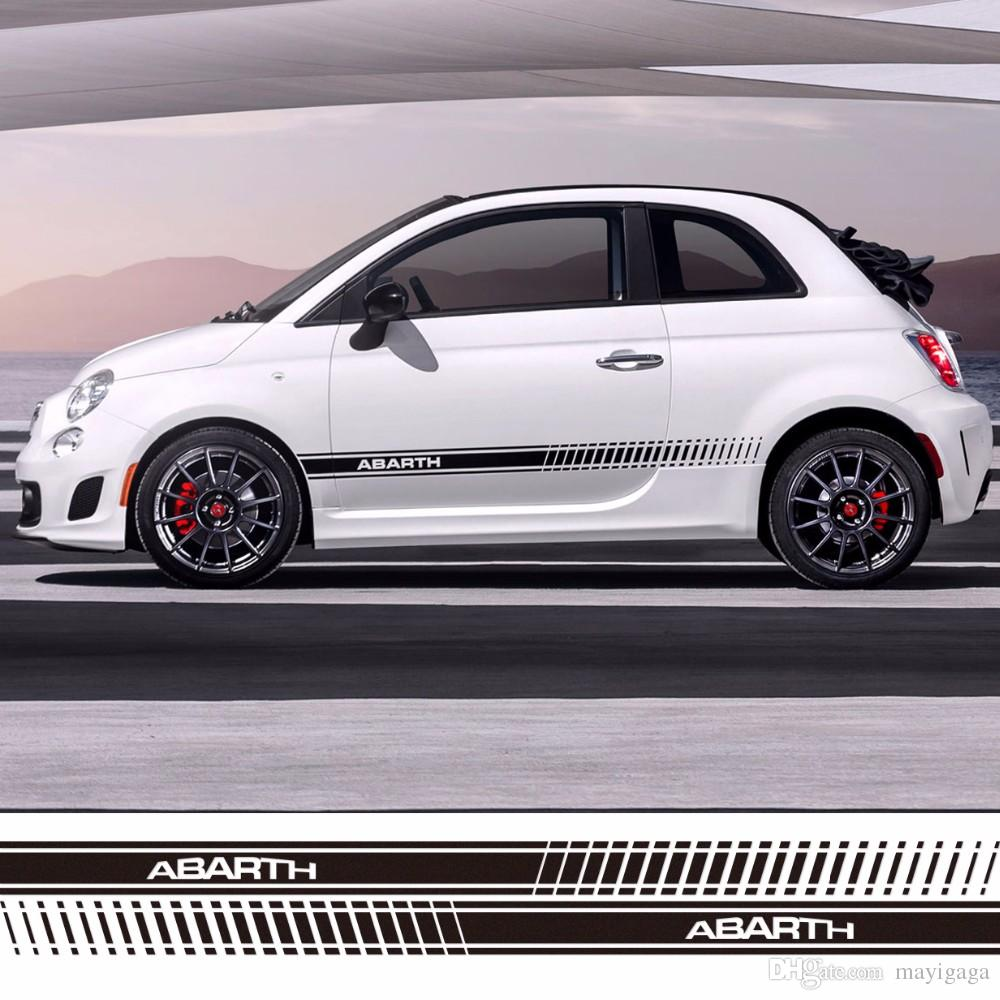 2018 Car Styling Abarth Side Skirt Racing Sticker Stripe Body Stickers For Fiat 500 Grande Punto Bravo Doblo Panda Ducato From Mayigaga 11 26 Dhgate Com