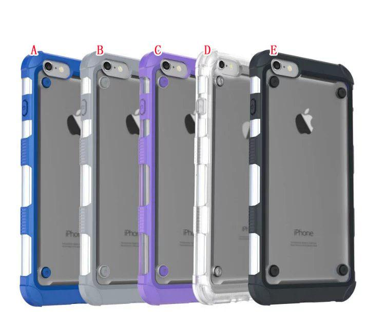 Luxury Anti-knock Shockproof Hybrid PC+ Soft TPU Case For iphone 6 6S 7 Plus Air Bag Dual Color Cover For iphone7 Phone Cases