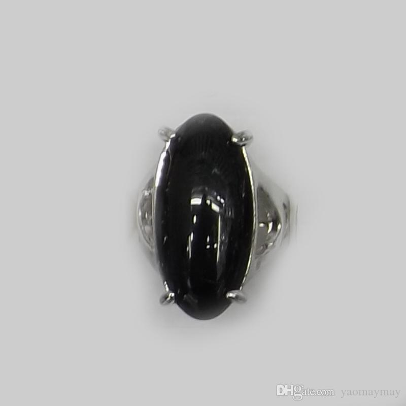 Wholesale Large Sized Natural Black Agate Rings Mix Design Factory Direct Supply