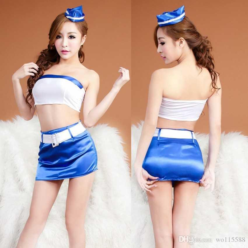 Frete grátis nova lingerie sexy sexy underwear pacote apertado bra capa terno feminino seduzir extremo alojamento ar aeromoça uniforme boate se
