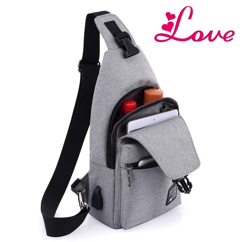 0079e9d859 Lucia S New Arrival Oxford Men Chest Pack Single Shoulder Strap USB  Charging Bag Crossbody Bags For Women Sling Shoulder Bag Hiking Bags  Backpacks With ...