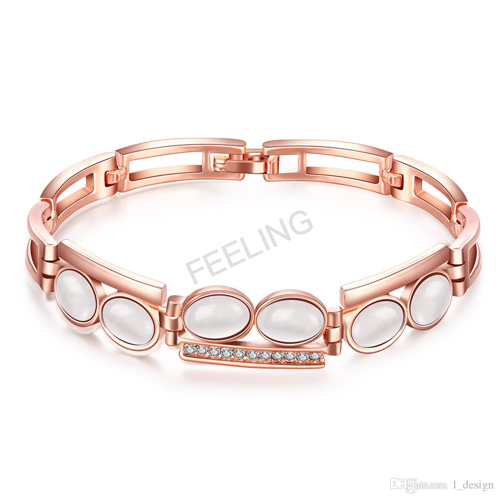 bracelet en bubble plated rose gold cm hires folli follie lady