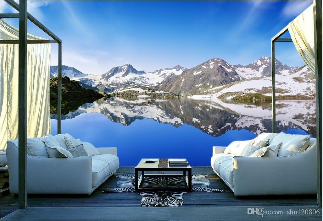 3d room wallpaper custom photo non-woven mural Beautiful mountain lake decoration painting picture 3d wall murals wallpaper for walls 3 d