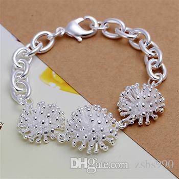 Mode-sieraden sets 925 zilveren ketting ring oorbel en armband charme vuurwerk sieraden voor vrouwen goedkope hete / partij