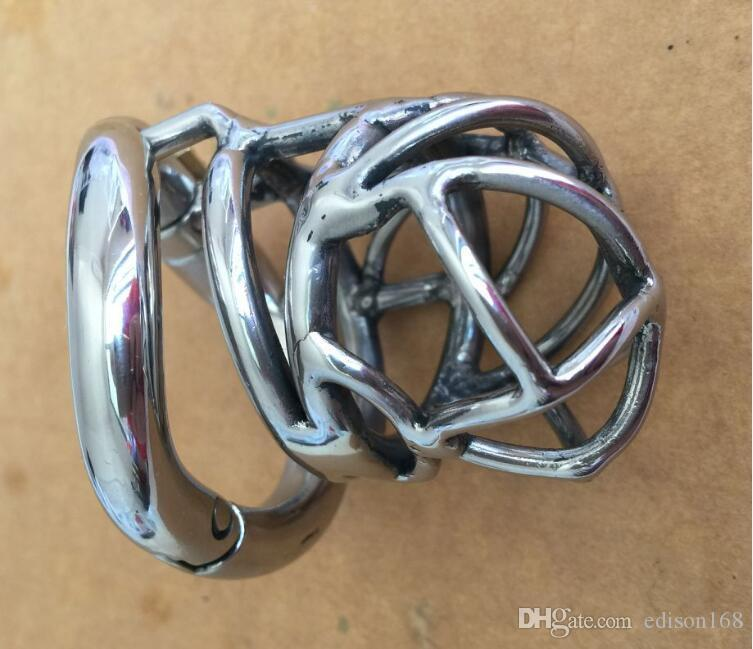 2017 Latest Curve Snap Ring Design Male Small Stainless Steel Cock Cage Penis Ring Chastity Belt Device Adult BDSM Products Sex Toy S065