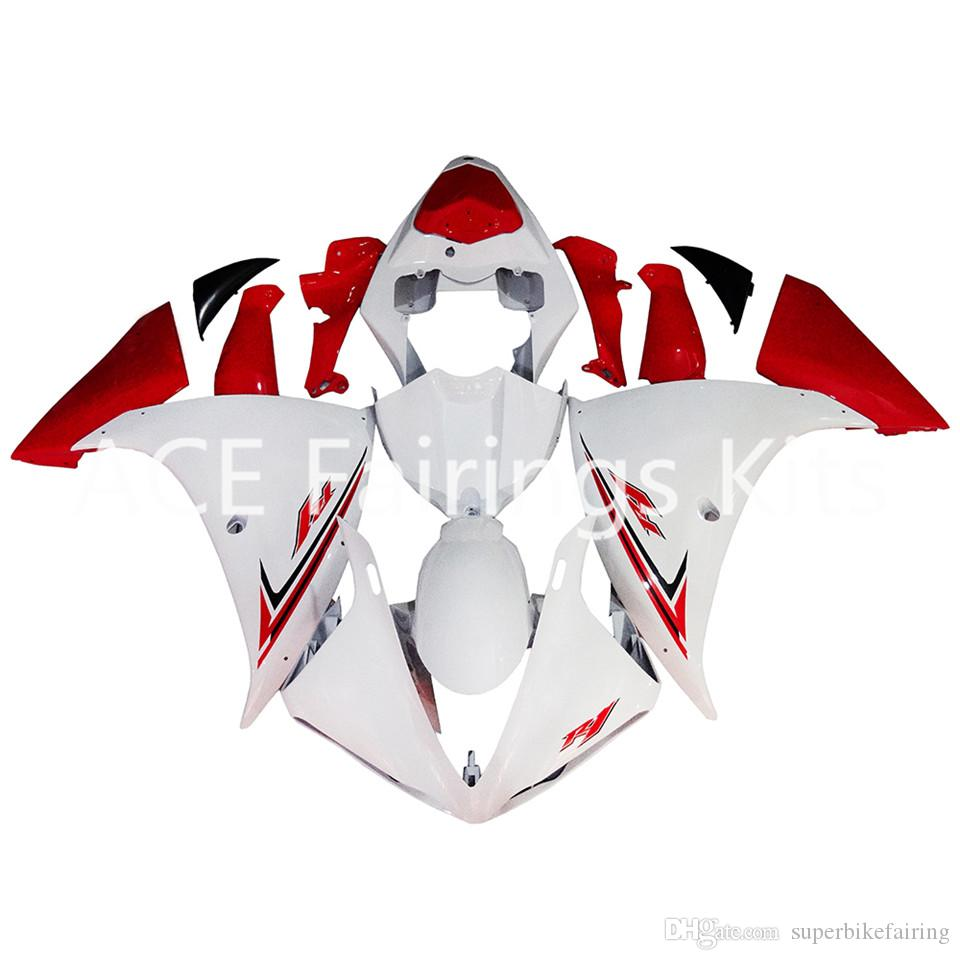3 free gifts Complete Fairings For Yamaha YZF 1000-YZF-R1-09-10-11-12 YZF-R1-2009-2010-2011-2012 Motorcycle Full Fairing Kit White Red v25