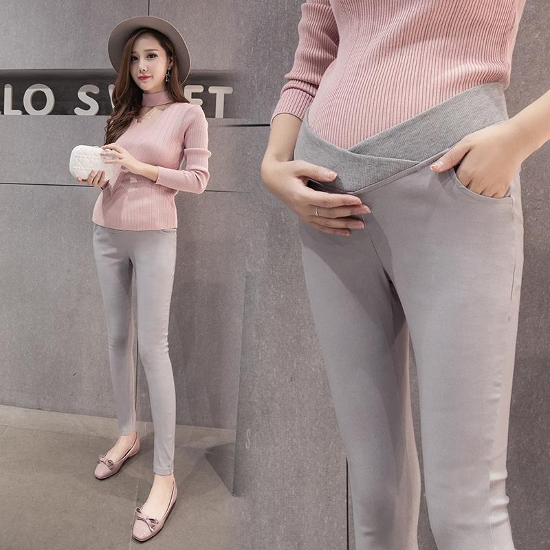 899e7adfd Compre 1611   Cintura Baixa Barriga Maternidade Legging Moda Coreana  Primavera Outono Fino Calças De Gravidez Para Mulheres Grávidas De  Mingway245
