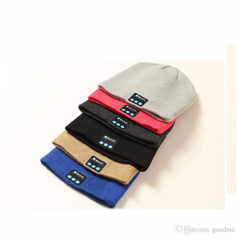V4.1 블루투스 모자 소프트 와일드 한 Fasion 비니 모자 스테레오 무선 이어폰 헤드폰 헤드셋 iPhone 7 Plus 삼성 전자 용