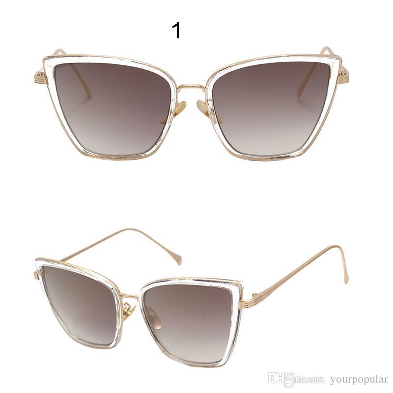 Mode Sonnenbrille Große Rahmen Sonnenbrillen , Durch Tee-Rahmen
