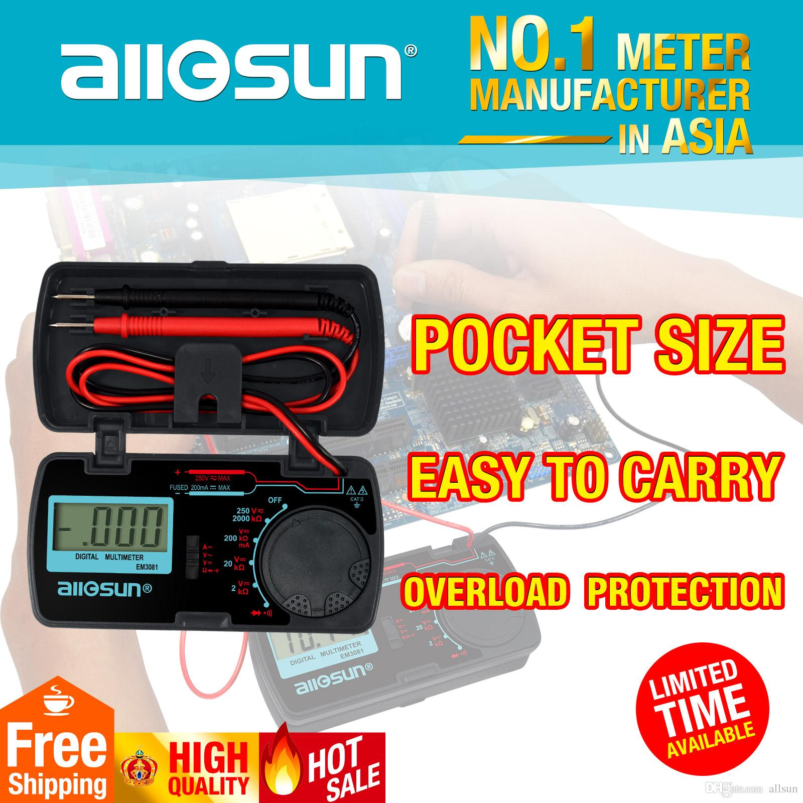 2018 Mini Lcd Digital Multimeter Dc Ac Voltmeter Ammeter Ohm Details About Circuit Tester Multi Auto Range Handheld Dmm Diode And Continuity Accurate Multitester Em3081 From Allsun