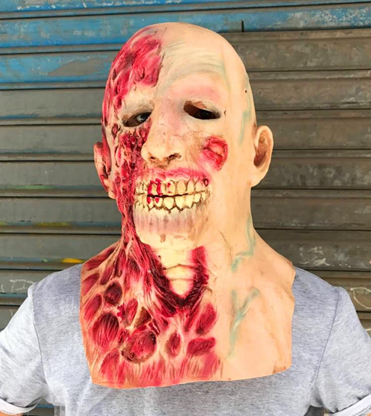 New 2017 Horror Halloween Cosplay Latex Costume Bloody Zombie Mask Melting Full Face Walking Dead Scary Carnival Mardi Gras Party Masks