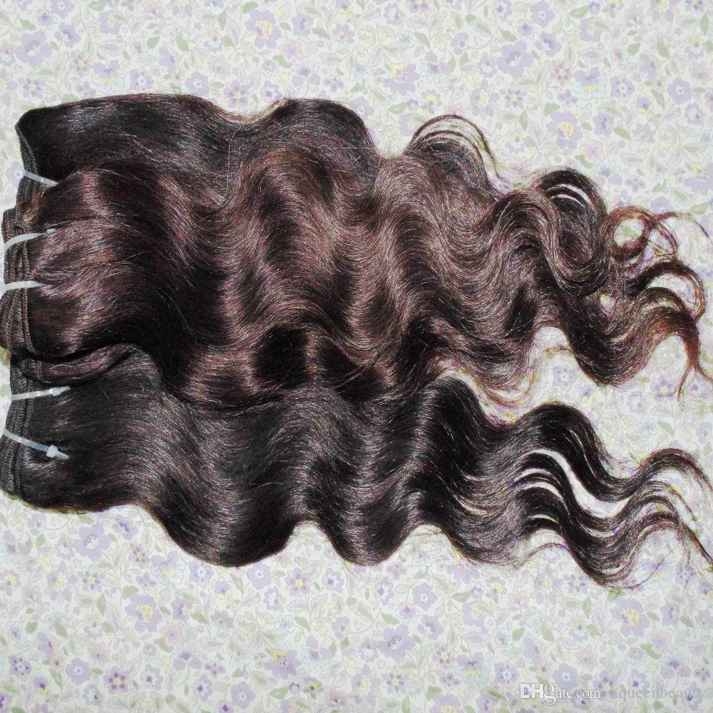 Sexy Queen King Beauty Brown Hair Extension Peruvian Weaves 5 bundles / lot Oferta más barata Liquidación