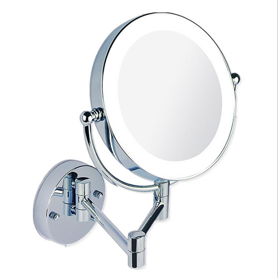 Makeup Mirrors Led Wall Mounted Extending Folding Double Side