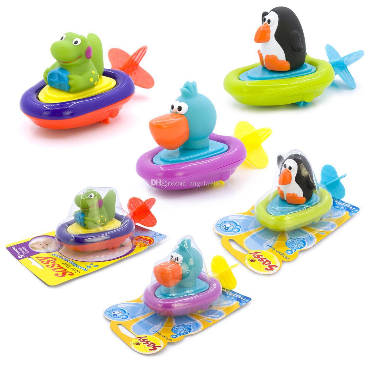 Детские игрушки для ванны дети заводят воду мультфильм пингвин утка динозавр животные плавание игрушки для детей C2417