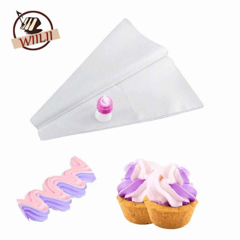 Wholesale Novelty Double Color Icing Bag Nozzle Set Cake Topper Diy