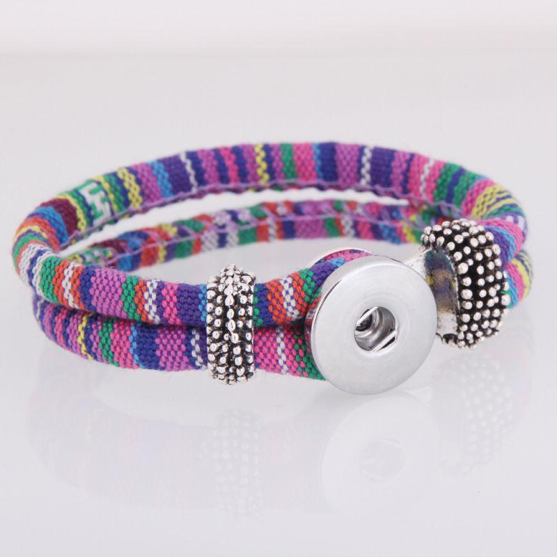 Nuovi colori NOOSA ginger snap Charm bracciali 18mm delle donne corda intrecciata Snap Button braccialetto dell'involucro del braccialetto wristband la moda gioielli fai da te
