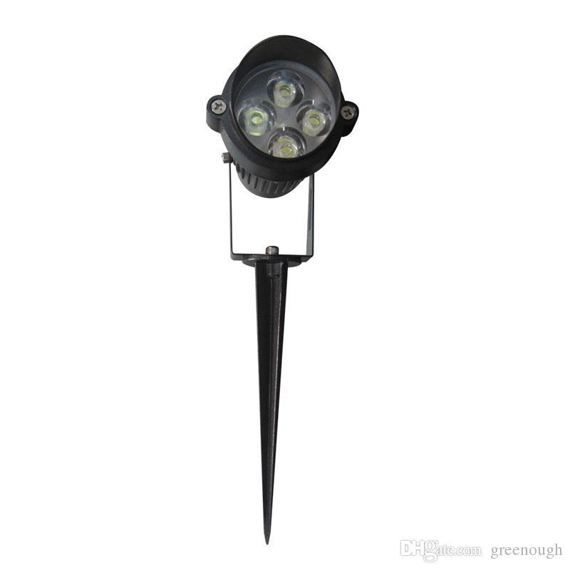 4 W AC85-265 V 12 V CONDUZIU a luz do pico do jardim IP65 À prova d 'água Caminho do projetor Paisagem Holofotes Segurança Gramado Luz Ao ar Livre LEVOU lâmpada de inundação