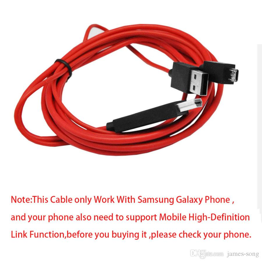 Micro USB Cable For Samsung Galaxy S3 S5 11 pin To HDMI Cables Converter Adapter AV Video Cabo For Samsung Note 2 Note 3 Note